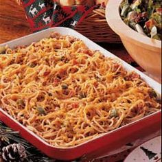 Confetti Spaghetti- Fabulous Family Favorite! I use 20 oz of noodles versus 16, as well as a touch more of the cayenne pepper and chili powder.