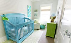 cute room...love blue and green together!