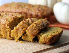 Pretty Pumpkin Bread | FaveGlutenFreeRecipes.com (gluten free bread recipes, pumpkin bread recipe, fall desserts)