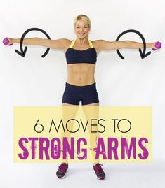 Want strong arms? Try these 6 moves from Brooke Griffin, aka Skinny Mom! #workouts