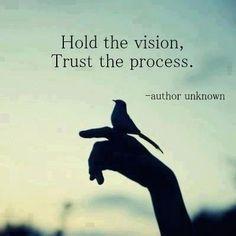 Trust the process...