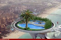 swimming pools, oasi, dubai, dream, funny pictures, rooftop, hotel, place, island