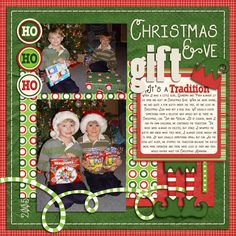 Layout: Christmas Eve Gifts