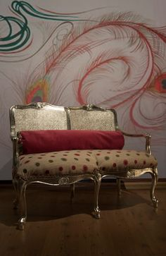 GlamourPuss Rules Hollywood Regency Settee by Omforme on Etsy, $650.00