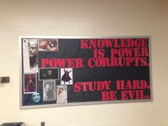 Not sure if this is the greatest motivational bulletin board ever or the worst?