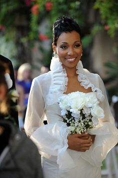 Feminine Wedding Hairstyles For Black Women