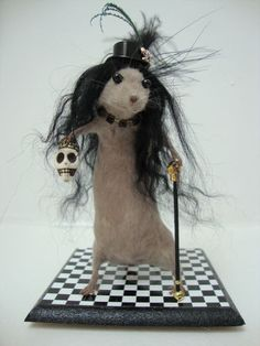Slash Guns 'n' Roses Taxidermy Lookalike Mouse, Rock Music Skull, Vinyl, Punk | eBay