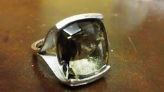 Smokey Crystal Quartz and Sterling Silver Ring