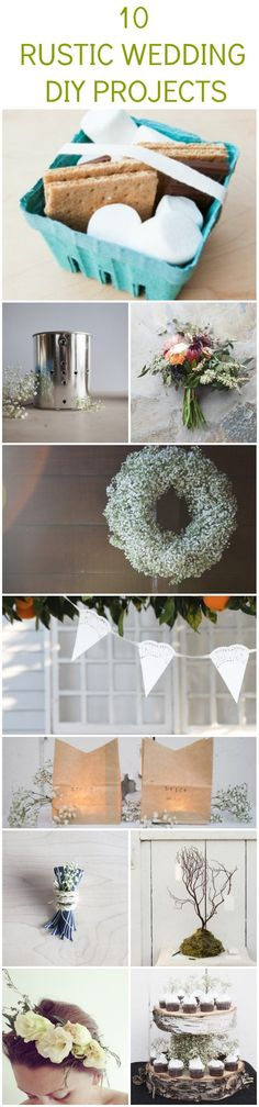 Rustic Wedding DIY Projects: I like the wreath, lanterns and a few others!!