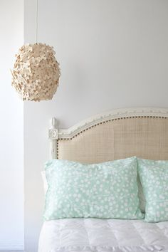 Hydrangea Lamp by Sarah Foote (made from hundreds of hand-stamped maple veneer circles)