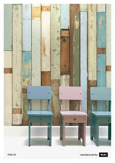 Recycled Wood Wallpaper.