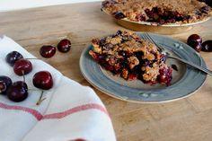 Sweet Cherry Pie with Cornmeal Streusel