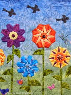 Close up, Learn and Grow by Candace West and the Sugar Cube Quilters.  Photo by Quilt Inspiration