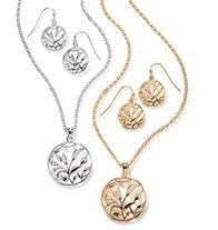 """Botanica Necklace and Earring Gift Set. Necklace, 16 1/2"""" L with 3 1/2"""" extender. Pierced earrings, 1"""" L.  GOOD TO KNOW All of Avon's jewelry is nickel-free for those with sensitive skin & allergies to nickel."""