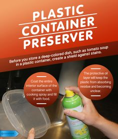 Keep food containers looking brand new no matter what you fill them with. #SaveMoney #DIYHome #HouseholdTips #Tupperware #Preserver #TupperwarePreserver #Preserve
