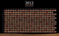2012 Mars Calendar #NASA #Aerospace #Education #Planets