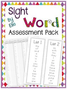Sight Word Assessment Pack Dolch and Fry Words from Elementary Elle on TeachersNotebook.com -  (25 pages)  - Sight word practice and assessment – track the progress of your kiddos! Sight word assessment pack includes a student flip-book with 360 total sight words, and a quarterly assessment recording sheet!