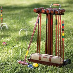 We used to play croquet at my grandparent's lake house