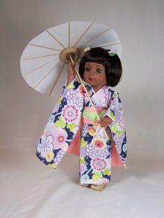 """Georgia in Japanese Kimono to celebrate """"Girls Day"""" japanes kimono, japanese kimono"""