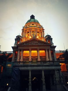 Durban City Hall - Taken on Nokia E5; at sunset.