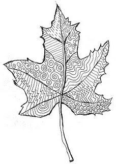 Line Pattern Leaf