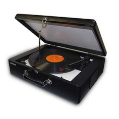 #Jensen Retro Styled 3 Speed #Turntable with Built-In Speakers & USB Port for Digital Conversion