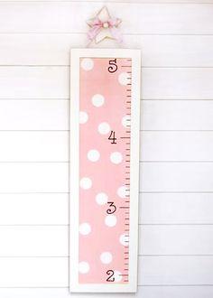 New Arrivals Growth Chart Pink Polka Dot