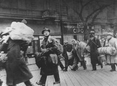 A group of Hungarian Jews rescued from deportation by Swedish diplomat Raoul Wallenberg. Budapest, Hungary, November 1944.
