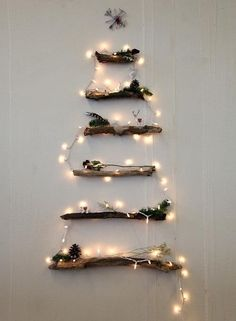 #Christmas #tree with wooden logs