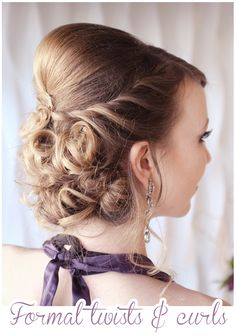 twists and curls formal updo