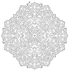 Mandala 583, Mandala Mazes Coloring Book, Dover Publications