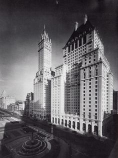 Here are the, then year-old, Sherry-Netherland and Savoy-Plaza Hotels. The Savoy Plaza was demolished in 1966 for construction of the General Motors Building. The Fifth Avenue Apple Store is today located near the spot where the Savoy's main entrance is seen in this 1928 photo.