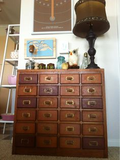 stephpellegrin: Thrifted card catalog. My life is now complete.