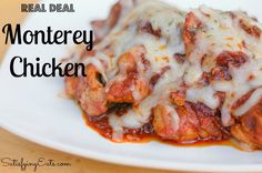 REAL Deal Monterey Chicken | Such an simple recipe but with SO much flavor! | www.satisfyingeats.com low carb, chicken breasts, bbq sauces, chicken thighs, satisfi eat, monterey chicken