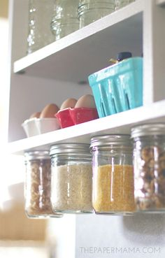 DIY-ify: Under Cabinet Rice and Pasta Storage