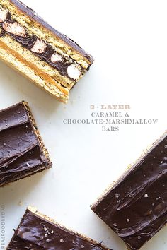 3-Layer+Caramel+and+Chocolate+Marshmallow+Bars