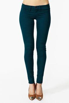 Skinny Jeans in Teal
