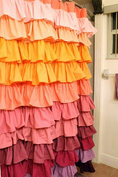 DIY Anthropologie Shower Curtain