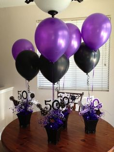 50Th Birthday Centerpieces on Pinterest