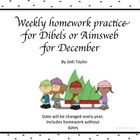 Practice+pages+for+AIMSWEB+or+DIBELS LNF,LSF,+PSF,+NWF NIF,OCF,+MNF,QDF, 1+double+sided+sheet+per+week+for+December. Includes+homework+with+no+date...