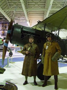 Pilot and Observer of Bristol F2b Fighter by Rob Langham, via Flickr