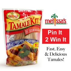 #MelissasProduce October Pinterest Contest - Tamale Kit.  Re-Pin and you could WIN!  #Giveaway