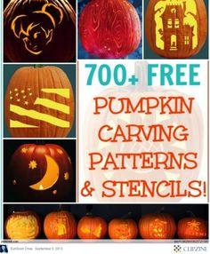 Pumpkin Carving Patterns & Stencils for your next pumpkin!