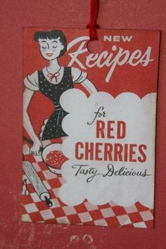 Red Cherries Recipe Gift Tags