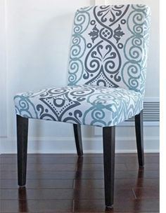 The slipcover pulls tightly around the bottom of the chair frame and attaches with velcro