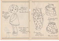 Susan Jane Paper Doll From Children'S Friend Magazine 05 1952 | eBay