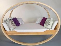 Rocking Bed: i'd put it on my back porch or in the yard under a nice shade tree. almost like a modern hammock of sorts.
