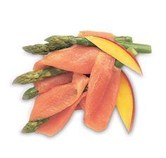 Abanicos de salmón y espárragos. #cuisine #recipes