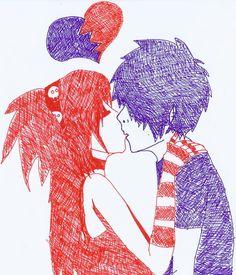 emo drawings | love this