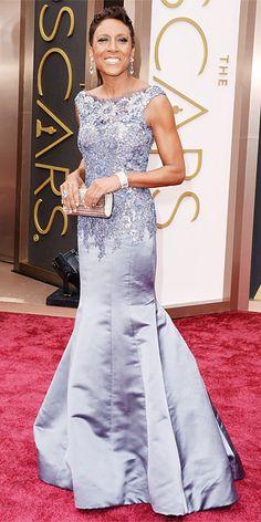 #Oscars #2014 Red Carpet Arrivals - Robin Roberts #RedCarpet #RobinRoberts #CelebrityStyle via #InStyle